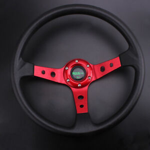 13 5 345mm 9 5cm Deep Dish Universal Drifting Racing Steering Wheel Aluminum Us