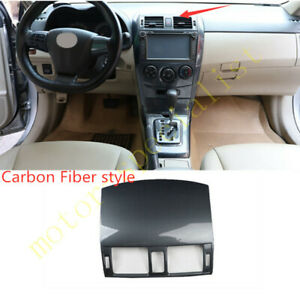 Carbon Fiber Central Console Air Outlet Vent Cover For Toyota Corolla 2007 2013
