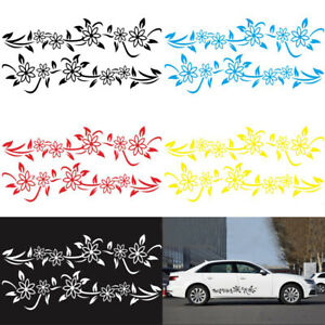 2x Car Side Body Door Flower Vine Style Vinyl Decals Graphics Decoration Sticker