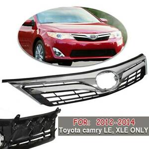 For Toyota Camry Le Style 2012 2014 2013 Front Bumper Upper Hood Grille Chrome
