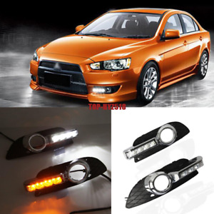 2007 2012 For Mitsubishi Lancer Led Daytime Running Light Drl Front Fog Light 2