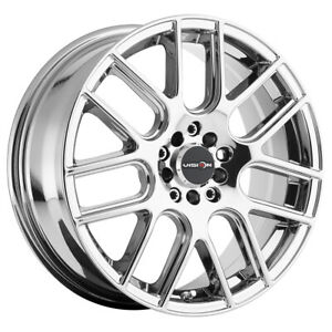 4 vision 426 Cross 17x7 5 5x100 5x4 5 40mm Chrome Wheels Rims 17 Inch