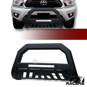 For 2005 2015 Toyota Tacoma Textured Blk Avt Aluminum Led Bull Bar Grille Guard