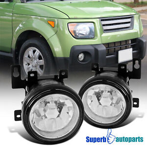 For 2003 2008 Honda Element Fog Lights Front Bumper Lamps Switch H3 Bulbs