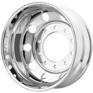 Atx Ao200 Baja Lite Rear 22 5x14 10x285 75 139mm Polished Wheel Rim 22 5 Inch