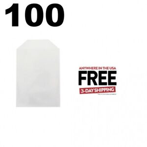 100 Cpp Clear Plastic Sleeve With Flap fits 14mm Dvd Case Artwork 1 3 Days
