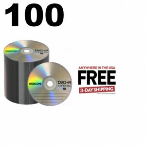100 Exacon 16x Dvd r 4 7gb Logo Top shrink Wrap 1 3 Days