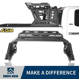 Hooke Road Steel High Bed Roll Bar W Cargo Rack For Toyota Tundra 2014 2020