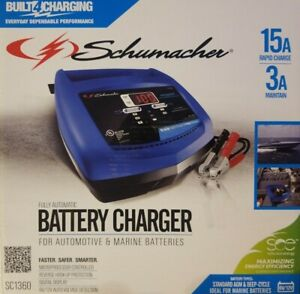 Schumacher Sc1360 6 12v Fully Automatic Battery Charger And 15a Maintainer
