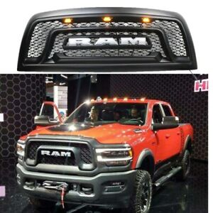 Front Grill Fit For 2010 2018 Dodge Ram 2500 3500 Mesh Grille W Led Lights