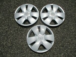 Lot Of 3 Factory 2006 To 2008 Toyota Yaris 14 Inch Hubcaps Wheel Covers
