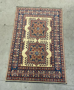 Authentic Handmade Traditional Wool Carpet Area Rug Persian Islamic Design 6x4ft