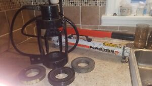 Weatherhead Hydraulic Hose Crimper Hand Pump 5 Dies 3 Rings hoses 84 Fittings