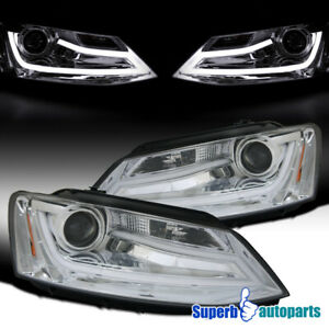 For 2011 2018 Vw Jetta Led Drl Projector Headlights W Led Drl Bar