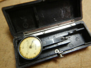 Vintage Federal Testmaster Dial Test Indicator With Case Machinist Tool