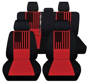 Car Seat Covers 2016 To 2020 Toyota Tacoma Usa Flag Truck Seat Covers