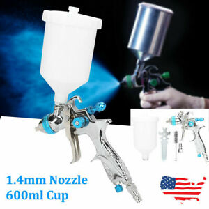 Automotive Air Spray Gun Gravity Feed Paint Tool 1 4mm Nozzle 600ml Cup