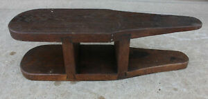 Antique Primitive Beefy Dovetailed Solid Oak Wood Tabletop Sleeve Ironing Board