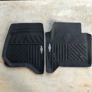 Gm Chevrolet Truck Front Floor Mats Set Rubber Black Chevy Silverado 2014 17