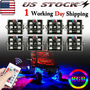 Led Underglow Rock Lights Rgb Multicolor Neon Light Strip Kit For Jeep Off Road