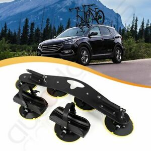 Bicycle Two Bike Suction Carrier Roof Top Quick Installation Roof Rack Aluminum