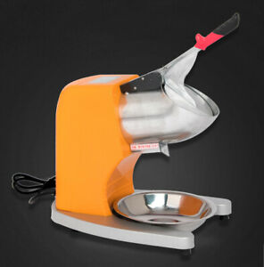 Commercial Electric Ice Crushing Machine Ice Crusher Shaver Snow Cone Maker 220v