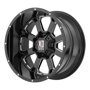22x10 Xd Xd825 Buck Black Wheels 33 Fuel At Tires Package 6x5 5 Chevy Silverado