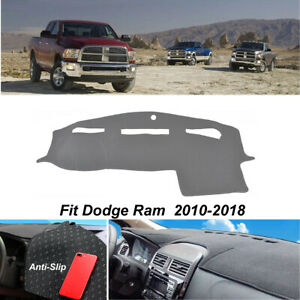 Dashmat For Dodge Ram 1500 2011 2016 Anti slip Dashboard Dash Cover Carpet Gray