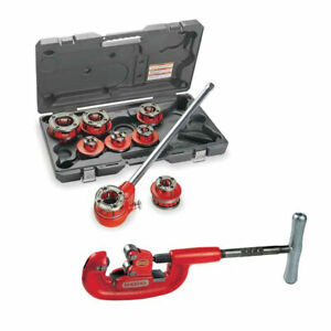 Ridgid 36475 Ratchet Threader Set Bundle W 32820 Pipe Cutter
