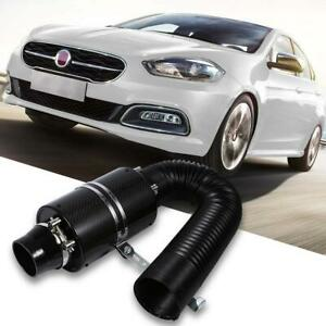 Universal 3 Filter Box Title Carbon Fiber Induction Cold Air Intake System Kit