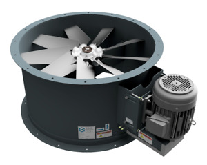 34 Dia Tube Axial Fan 5 Hp 1 Phase 17 000 Cfm Made In Usa