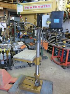 Powermatic 1150 Drill Press W Speed Reduction production Table Morse 2 Clausing