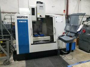 Used Hurco Vmx 30 Cnc Vertical Mill 2001 Winmax Upgrade 30 20 24 24 Smtc