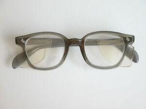 Vtg Americal Optical Thick Eyeglasses Frames Steampunk Clear Lenses Welding