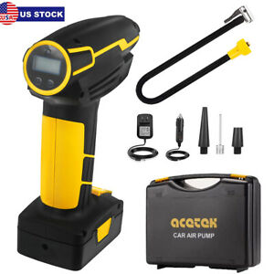 Tire Inflator Car Air Pump Compressor Portable Electric Auto Pump 12v 150 Psi Us