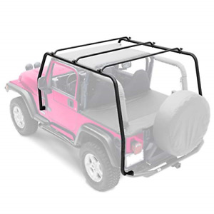 Textured Black Src Upper Top Roof Rack For 1997 2006 Jeep Wrangler Tj 76713