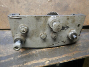Vintage Logan 10 Metal Lathe Carriage Apron With Gears