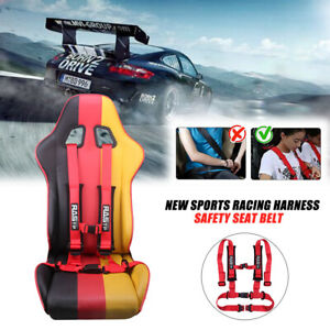 2 4 Point Sport Quick Release Safety Seat Belt Harness For Racing Car Utv Us