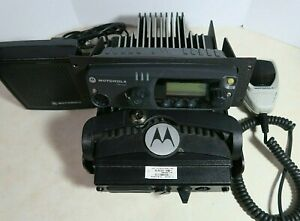 Motorola Pm1500 Uhf P25 Mobile Radio 380 470 Mhz 255 Channels 110 Watts