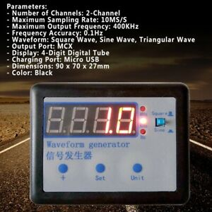 Wg100 Signal Generator 10ms s Dual Channel Sine Wave Frequency Meter 400khz