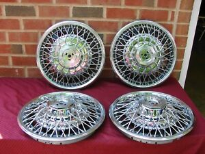 79 85 Buick Riviera Nos Gm Wire Hubcaps Pt 25504469 15 Inch