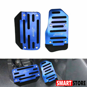 Universal Racing Sports Non Slip Automatic Car Gas Brake Pedal Pads Cover Bule