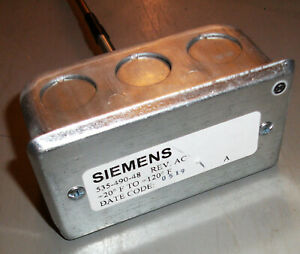 Siemens 535 490 48 Duct Avg Temp Sensor 4 20 Ma 20 120f 48 Rigid