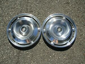 Lot Of 2 Factory 1961 Buick Electra Invicta 15 Inch Hubcaps Wheel Covers
