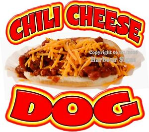 Chili Cheese Dog Decal choose Your Size Hot Dogs Food Truck Concession Sticker