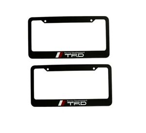 2pcs Trd Racing Development Metal License Plate Frames For Toyota