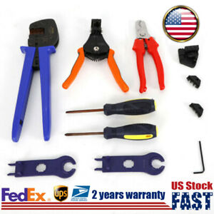 Solar Cable Crimper Cutter Crimping Plier Tool Wire Stripper Hex Wrench Locater