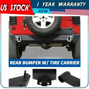 Rock Crawler Rear Bumper With Tire Carrier Linkage For Jeep Wrangler 07 18 Jk