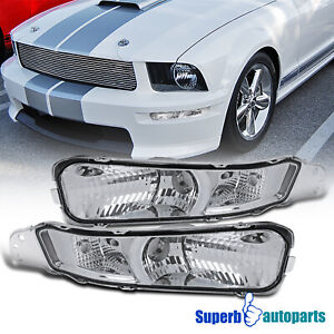 For 2005 2009 Ford Mustang Front Bumper Lights Signal Lamps