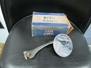 Vintage Nu Vue Side View Door Mirror Rat Hot Rod Clip On With Box 1950 S